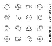 thin line icons set of recovery ...   Shutterstock .eps vector #1069358924
