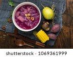chinese style dessert tremella  ... | Shutterstock . vector #1069361999