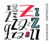 letters z set. different styles.... | Shutterstock .eps vector #1069362110