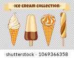 ice cream collection at... | Shutterstock .eps vector #1069366358