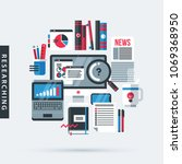 modern illustration about... | Shutterstock .eps vector #1069368950