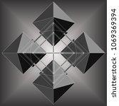 four octahedron make rhomb... | Shutterstock .eps vector #1069369394