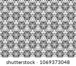 ornament with elements of black ... | Shutterstock . vector #1069373048