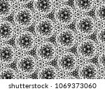 ornament with elements of black ... | Shutterstock . vector #1069373060
