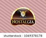 gold emblem or badge with... | Shutterstock .eps vector #1069378178