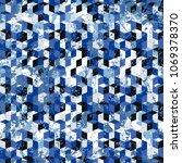 vector geometric seamless...   Shutterstock .eps vector #1069378370