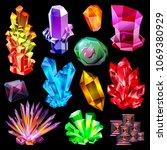 crystal vector crystalline... | Shutterstock .eps vector #1069380929