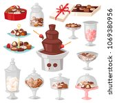 chocolate candy vector sweet... | Shutterstock .eps vector #1069380956