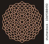 mandala. circular ornament....   Shutterstock .eps vector #1069388450