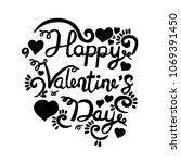 happy valentine day  hand... | Shutterstock .eps vector #1069391450