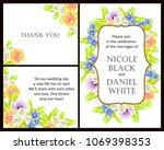 vintage delicate invitation...   Shutterstock .eps vector #1069398353