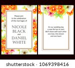 vintage delicate invitation... | Shutterstock .eps vector #1069398416