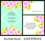 vintage delicate invitation... | Shutterstock .eps vector #1069398443