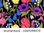 spring flowers. flower vintage... | Shutterstock .eps vector #1069398470