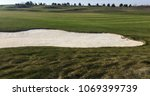 Golf Green With Bunkers In...