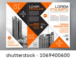 business brochure. flyer design.... | Shutterstock .eps vector #1069400600