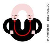 business partners. siamese... | Shutterstock .eps vector #1069405100