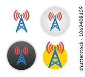 antenna icon on white background | Shutterstock .eps vector #1069408109