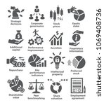 business management icons. | Shutterstock .eps vector #1069408736