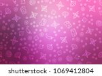 light pink vector cover with... | Shutterstock .eps vector #1069412804
