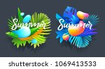 summer badges design art.... | Shutterstock .eps vector #1069413533