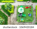 colorful children playground on ... | Shutterstock . vector #1069420184