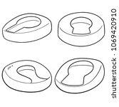 vector set of bedpan | Shutterstock .eps vector #1069420910
