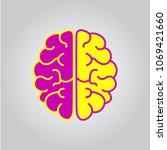 brain vector icon | Shutterstock .eps vector #1069421660