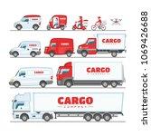 cargo truck vector van or... | Shutterstock .eps vector #1069426688