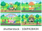 fast food kiosks  beautiful... | Shutterstock .eps vector #1069428434
