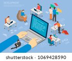 programming development poster... | Shutterstock .eps vector #1069428590