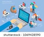 programming development poster... | Shutterstock .eps vector #1069428590