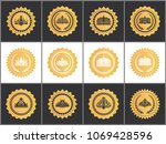 gold royal quality approval... | Shutterstock .eps vector #1069428596