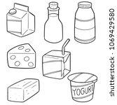 vector set of milk product | Shutterstock .eps vector #1069429580