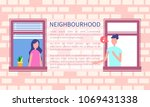 neighbourhood poster man... | Shutterstock .eps vector #1069431338