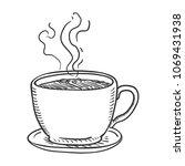 vector penciling sketch... | Shutterstock .eps vector #1069431938