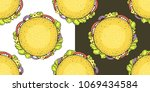 vector seamless pattern with... | Shutterstock .eps vector #1069434584