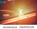 high precision cnc gas cutting... | Shutterstock . vector #1069435220