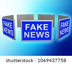 fake news tv screens...   Shutterstock . vector #1069437758