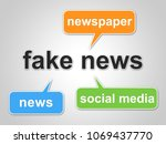 fake news words meaning... | Shutterstock . vector #1069437770