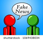 fake news man telling another... | Shutterstock . vector #1069438034
