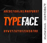 abstract alphabet typography.... | Shutterstock .eps vector #1069438679