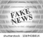 fake news newspaper words on... | Shutterstock . vector #1069438814