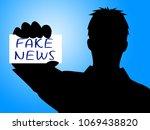 fake news business card message ... | Shutterstock . vector #1069438820