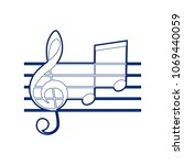 music violin clef sign. g clef... | Shutterstock .eps vector #1069440059