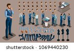 isometric vintage background  a ... | Shutterstock .eps vector #1069440230