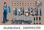 isometric vintage background  a ... | Shutterstock .eps vector #1069441190