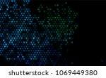 dark blue  green vector hearts... | Shutterstock .eps vector #1069449380