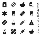 flat vector icon set   flask... | Shutterstock .eps vector #1069449656