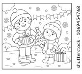 coloring page outline of... | Shutterstock .eps vector #1069454768